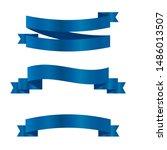 blue ribbons set.vector ribbon... | Shutterstock .eps vector #1486013507