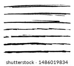 set of grunge hand drawn brushes | Shutterstock .eps vector #1486019834