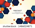 colorful hexagonal shapes... | Shutterstock .eps vector #1486024871