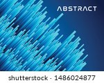 abstract shapes blue line... | Shutterstock .eps vector #1486024877