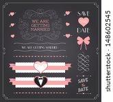 chalkboard style wedding design ... | Shutterstock .eps vector #148602545