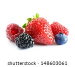 big pile of fresh berries on... | Shutterstock . vector #148603061