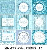 set of vintage labels and frames | Shutterstock .eps vector #148603439