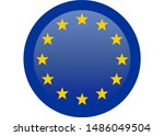 simple flag of european union.... | Shutterstock . vector #1486049504