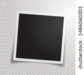 blank photo frame with...   Shutterstock .eps vector #1486060301