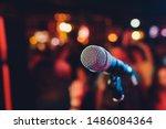 Microphone. Microphone Close Up....