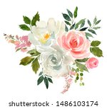 pink white pastel colors...   Shutterstock . vector #1486103174