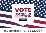 presidential election 2020 in...   Shutterstock .eps vector #1486123097