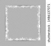 blank white snowflakes square... | Shutterstock . vector #1486137071
