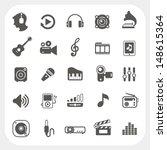 music icons set | Shutterstock .eps vector #148615364