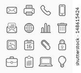 office elements symbol line... | Shutterstock .eps vector #148615424