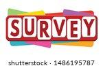 survey banner or label for... | Shutterstock .eps vector #1486195787