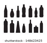 Bottle Set Vector On White...