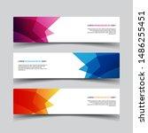 vector abstract design banner... | Shutterstock .eps vector #1486255451