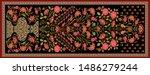 decorative mughal motif   stole ... | Shutterstock .eps vector #1486279244