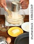 Making Sour Cream Lemon Cake....