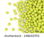 Heap Of Tennis Balls With Place ...