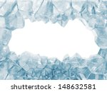 Broken Ice Wall Isolated On...