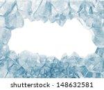 Broken Ice Wall Isolated On...