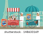 buildings,cakes,classic,cookies,cupcake,donut,eifel tower,happiness,happy,ice cream,ice cream cone,landmark,man,mustache,old