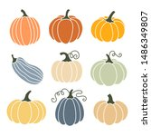 Pumpkin Of Various Shapes And...
