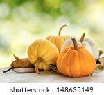 Pumpkins On Green Natural...