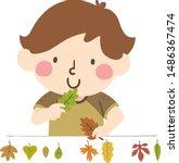 illustration of a kid boy... | Shutterstock .eps vector #1486367474