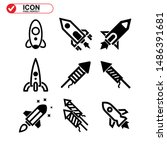 rocket icon isolated sign... | Shutterstock .eps vector #1486391681