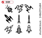 rocket icon isolated sign... | Shutterstock .eps vector #1486391684
