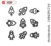 rocket icon isolated sign... | Shutterstock .eps vector #1486391714