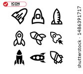 rocket icon isolated sign... | Shutterstock .eps vector #1486391717
