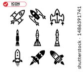 rocket icon isolated sign... | Shutterstock .eps vector #1486391741