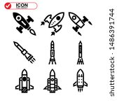 rocket icon isolated sign... | Shutterstock .eps vector #1486391744