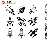 rocket icon isolated sign... | Shutterstock .eps vector #1486391747