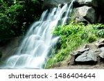Waterfall Among Green...