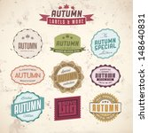 collection of autumn sales... | Shutterstock .eps vector #148640831