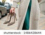 Fashionable Young Woman Wearing ...