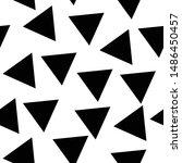 triangle shape pattern black... | Shutterstock .eps vector #1486450457