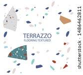 terrazzo flooring textured... | Shutterstock .eps vector #1486462811