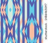 geometric kilim seamless repeat ... | Shutterstock .eps vector #1486465097