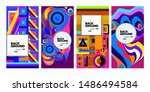 vector colorful ethnic... | Shutterstock .eps vector #1486494584