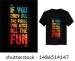 quote  typography t shirt design | Shutterstock .eps vector #1486514147