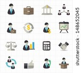 management and business icons   Shutterstock .eps vector #148652045