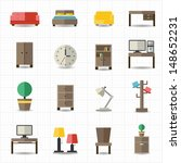 home and office furniture... | Shutterstock .eps vector #148652231