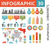 infographics design elements 30.... | Shutterstock .eps vector #148654871