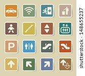 public icons set.illustration... | Shutterstock .eps vector #148655237