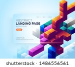 an abstract template design for ... | Shutterstock .eps vector #1486556561