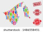 election brunei map and stamps. ... | Shutterstock .eps vector #1486558451