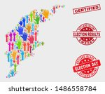 election gotland island map and ... | Shutterstock .eps vector #1486558784