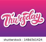 thursday. day of the week. hand ... | Shutterstock .eps vector #1486561424